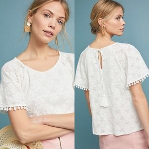 ANTHROPOLOGIE ERI + ALI BIANCA TOP XS